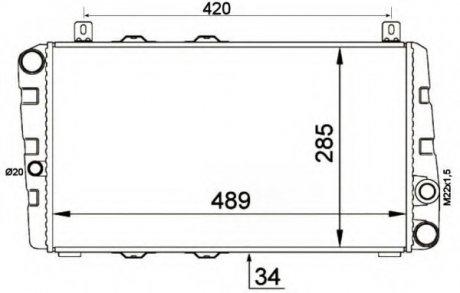 58250 NRF Радиатор системы охлаждения двигателя