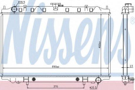 67352 NISSENS Радиатор системы охлаждения
