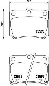 P54026 BREMBO Тормозные колодки дисковые