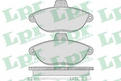 05P346 LPR Тормозные колодки дисковые
