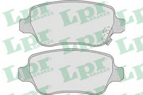 05P811 LPR Тормозные колодки дисковые