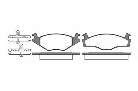 0171.10 REMSA Колодка торм. SEAT CORDOBA (6K2/C2), IBIZA II (6K1), VW CADDY I передн. (пр-во )