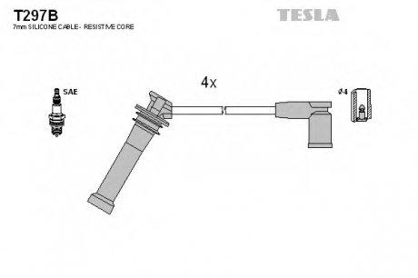 T297B TESLA Кабель зажигания, к-кт Mazda 6 02-1,8;2,0;2,3