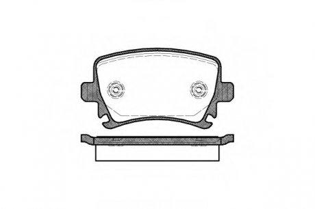 1031.00 REMSA Колодка торм. AUDI A4, SEAT, SKODA,VW задн. (пр-во )