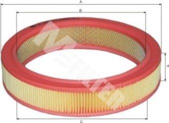 A124 M-FILTER Фильтр воздушный SKODA FAVORIT (пр-во M-filter)