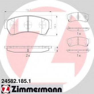 245821851 ZIMMERMANN Гальмівні колодки перед Mazda6 18-25i С 2007г Zimmermann