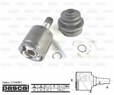 G74008PC PASCAL Шарнирный комплект, приводной вал