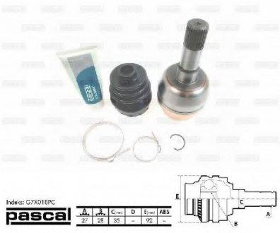 G7X018PC PASCAL Шарнір приводного валу внутрішній Права (27z/28z/35мм)