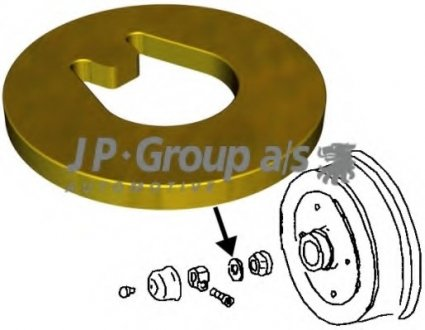 8141200900 JP GROUP Подвеска, корпус колесного подшипника